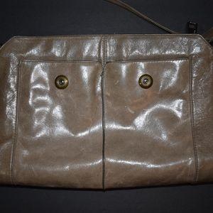 HOBO Stone / Tan Distressed Leather Crossbody